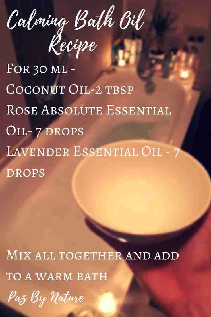 Aromatherapy Calming Bath Oil Recipe