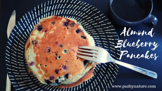 How to make Almond milk and Almond-Blueberry Pancakes (with Almond Pulp!)